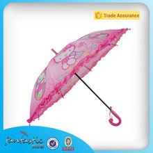 Pink animal print pretty kitty straight lace girl kids umbrella