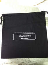 factory direct sell alibaba website hot new products for 2015 high quality 6oz black cotton drawstring shoe bag with embroidery