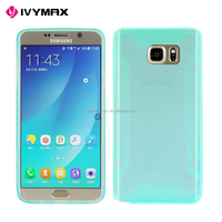 Clear soft tpu case for Samsung NOTE 5 wholesale colorful bumper case