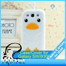 New arrival lovely duck 3D silicone protective for samsung galaxy s3