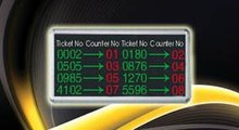 6 digit LED,2 green window number and 4 red call number,main display screen for queue management system