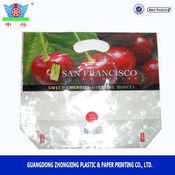 Sweet cherries packaging bag Fruit shopping bag Grape pouch