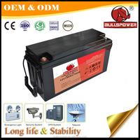 Vrla lead acid backup power 12v 150ah maintenance free solar battery