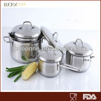 304 stainless steel waterless green pan cookware