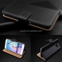 Genuine Real Leather Wallet stand case cover for samsung galaxy s6 g9200 & edge