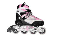 2015 plastic wheel roller skate shoes new , quality wheels and bearing ,4 size adjustable inline skate for kid