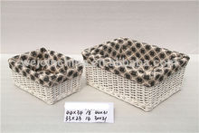 S/3 cesta de mimbre venta al por mayor