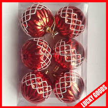 red printing wholesale shatterproof christmas ball ornaments