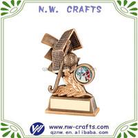 Unique gold hockey trophy award resin crafts