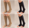 2015Hot knee-high, zip-up open toe compression socks