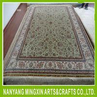 A5 6'x9' Floral oriental hand knotted handmade persian silk carpet