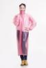 Hooded rain coat fashion for women /ladies clear plastic raincoats