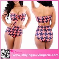 2015 3pcs Strapless High-waisted Bikini Swimsuit sex xxl