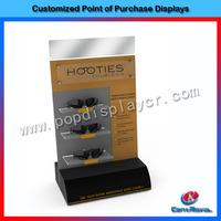 Custom slatwall acrylic sunglass display holder