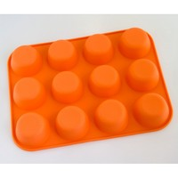 Eggette shape silicone cake mold 12pcs set