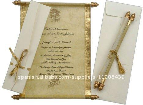 Wedding Scroll Invitations