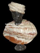 Mixte couleur vie taille antique sculpté pierre hommes buste statue