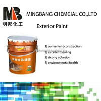 Oil base waterproof exterior wall emulsion decorative paint