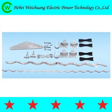 high quality double point preformed suspension clamp set for OPGW cable