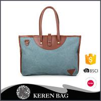 2016 Newest Hot Seeling Leather Canvas Handbag Wholesale
