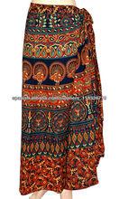 falda envolvente 2014 larga últimas algodón envuelven falda