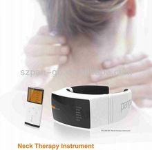 pangao neck traction massager with pulse heating vibrate magnetic FDA CE