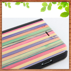 2015 hot selling colorful rainbow bamboo phone case for iphone 5c, for bamboo iphone 5c case