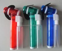 HEYU handheld plastic mini water bottle spray fan for promotion