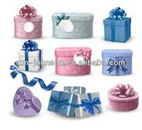Multiple pictorial style custom paper gift box with quantity discount