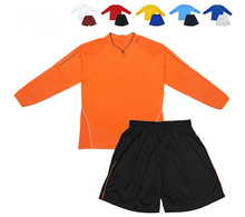 Wholesale cheap quality long sleeve soccer jersey customized football uniforms for kids