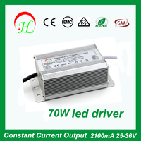 2100mA 25-36V constant current LED Driver IP67 for 70W Floodlight SAA