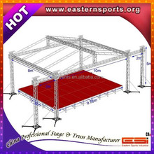 Aluminum stage with light truss roof for event performance