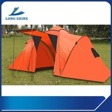 2015 fashion style tunnel outdoor family camping tent with two rooms