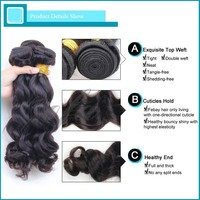 Remy virgin peruvian hair extension straight wavy curly weaving available