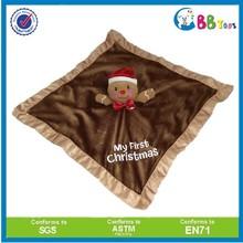 Christmas gift plush santa bear baby blanket stuffed soft animal baby toy