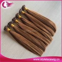Wholesale 100% natural remy u tip keratin human hair extension