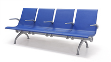 comfy durable PU foam hospital waiting plastic chairs