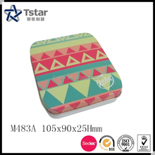 Customized small napkin/ sugar tin box packaging