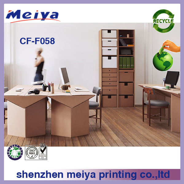 eco friendly recyclable cardboard office furniture view