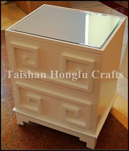 Modern living room white mirrored furniture,cabinet with drawers,drawer rails
