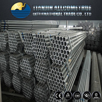 BS 1387/A53 pre-galvanized steel tube / Pipes / Fence pipes / Scaffolding pipes made in Tianjin
