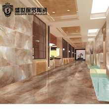 450x900 Modern Red Artistic High glossy China full polished glazed porcelain floor tile for wall and floor with Zibo price