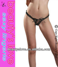 wholesale sexy ladies lace-up front open G-string sexy women g-string picture