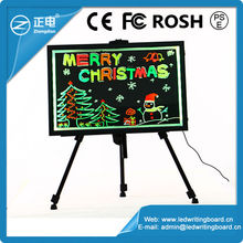 Neon flashing advertisement Led write board with marker pen