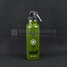 Army Green Flask/plain sports bottle/Stainless Steel Double Wall Flask