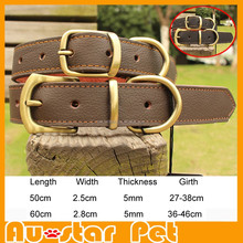 Wholesale High Quality Genuine Leather Pet Collars, Dog Collars