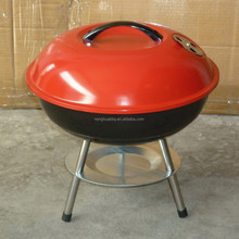"14"" inch round kettle/tabletop BBQ GRILL with red cover"