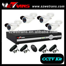 WETRANS Network Real Time H 264 4CH DVR Camera Kit, Hot Security Dvr Kit With Ir Camera