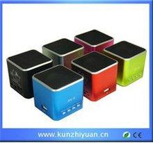Mini speaker, portable speaker with FM, 2012 hot sales speaker box portable speaker vibration speaker