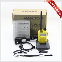 BAOFENG UV-3R+ YELLOW military long range wireless mobile phone transceiver